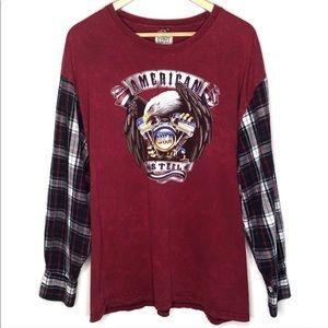 LF Furst of a Kind Vintage USA Flannel Top